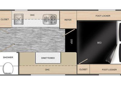 Floorplan of Travel Trailer